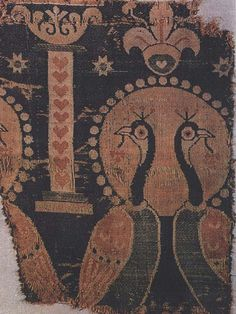 Sassanian silk fragment with peacocks, Aachen 6thc by julianna.lees, via Flickr