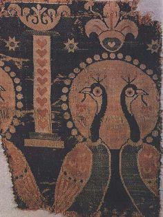 Sassanian silk fragment with peacocks, Aachen 6thc by julianna.lees, via Flickr