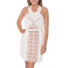 Embroidered Tie Waist Dress - Summer Trends by Aryeh - Events