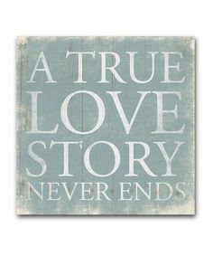 'True Love Story' Wrapped Canvas, home decor ideas, sayings, love quotes, fairy tale #zulily