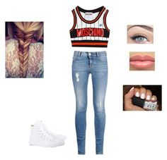 """""""Moschino"""" by ajwray07 ❤ liked on Polyvore"""