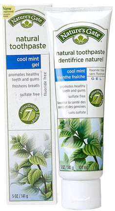 Nature's Gate Natural Toothpaste Gel Flouride Free Cool Mint -- 5 oz