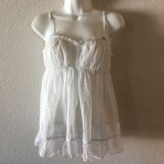 Victoria's Secret Bridal Night Gown lingerie Victoria's Secret bridal collection . Blue pocka dots nighty . Lingerie night gown. Size small. N tags attached. New condition. Wrapped and shipped with care. Victoria's Secret Intimates & Sleepwear Chemises & Slips
