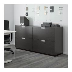 GALANT Storage combination with filing - black-brown - IKEA