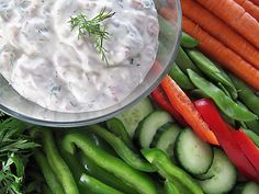 Crunchy Lemon Dill Vegetable Dip recipe - Foodista.com