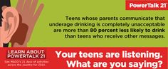 underage drinking  infographic   October 19-25 is Teen Driver Safety Week, and it's a great time for ...
