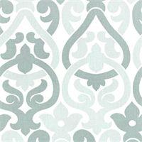 Alex Snowy Blue Contemporary Print Drapery Fabric by Premier Prints