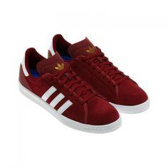 adidas Originals - Campus AS Cardinal Red/Metallic Gold/Running White Metallic Gold, New Shoes, Adidas Originals, Skateboard, Adidas Sneakers, Street Wear, Running, Red, Fashion