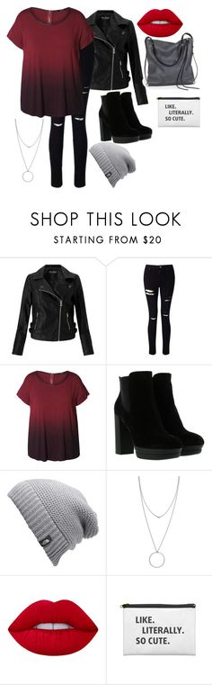 """punk goes PUNK"" by alyssafaithlambdin-1 ❤ liked on Polyvore featuring Miss Selfridge, Dex, Hogan, The North Face, Botkier, Lime Crime, Ina Kent and plus size clothing"