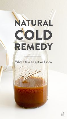 Mother nature knows what she's doing ─ all the ingredients in my natural cold remedy are well, natural. Homemade Cough Remedies, Cold And Cough Remedies, Home Remedy For Cough, Natural Sleep Remedies, Cold Home Remedies, Homeopathic Remedies, Natural Health Remedies, Natural Cures, Cold Medicine
