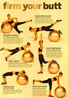 Stability Ball Firm Your Booty Medicine Ball Ab Attack Sara Haley's BOSU Total Body Blast Stability Ball Total-Body Workout Medicine Ball between the Knees Fitness Diet, Yoga Fitness, Fitness Motivation, Health Fitness, Fitness Hacks, Workout Fitness, Exercices Swiss Ball, Tonifier Son Corps, Stability Ball Exercises