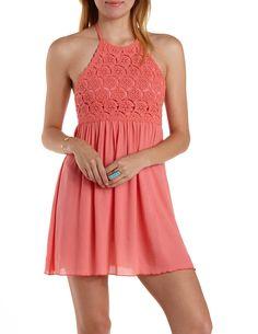Crochet Bib Halter dress