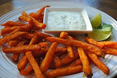 Virtually Homemade: Chili Lime Sweet Potato Fries with Jalapeno Ranch Dipping Sauce