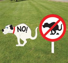 wood Yard Signs | Outdoor Sign Wood Patterns - Doggie NO-GO Signs Woodcraft Pattern