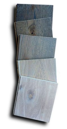 Popular French Oak wood floors show in gray tones.