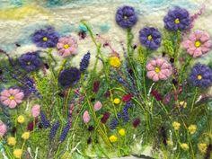 By MarmaladeRose. Felt Fabric, Fabric Art, Felt Wall Hanging, Felt Bookmark, Landscape Art Quilts, Felt Pictures, Needle Felting Tutorials, Felt Embroidery, Wool Art