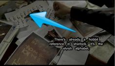 Hobbit reference in Sherlock! They thought we wouldn't notice. But we did.