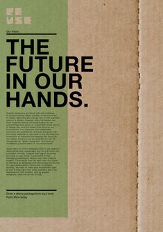 Sustainable Graphic Design by Ryan Kavanagh, via Behance