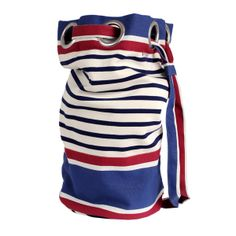 Kit bag in ''marinière'' fabric Barack Obama, Style Marin, Marines, Nautical, Couture, Sewing, Fabric, Bags, Accessories