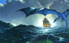 Artwork: dark voices by fantasy artist Les Edwards. See more artwork by this featured artist on the fantasy gallery website. Dragon Horse, Dragon Rider, Dragon Art, Dragon Pics, Dragon Pictures, Water Dragon, Blue Dragon, Sea Dragon, Magical Creatures