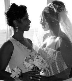 Trinity McCray  her mother Grace before her wedding