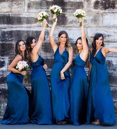 Buy Buy Royal Blue Long Bridesmaid Dresses A-Line V-neck Wedding Party Dresses The gorgeous blue bridesmaid dresses are a line long style feature. Western Wedding Dresses, Luxury Wedding Dress, Wedding Bridesmaid Dresses, Wedding Party Dresses, Bridal Dresses, Modest Wedding, Sophisticated Bride, Event Dresses, Gold Wedding