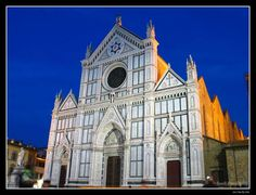 Santa Croce, in Florence, Italy. Michelangelo, Galileo & Machiavelli are all buried here.