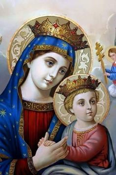 Mary - Jesus-+ by on DeviantArt Mother Mary Images, Images Of Mary, Blessed Mother Mary, Blessed Virgin Mary, Hail Holy Queen, Church Icon, Queen Of Heaven, Mama Mary, Mary And Jesus