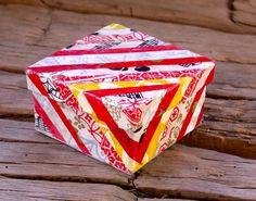 Striped Decorative Box by annarobertsart on Etsy
