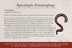 February 13: Apocalypse Nownies recipe + Apocalyptic Entomophagy from The Art of Eating Through the Zombie Apocalypse by Lauren Wilson, shared by @FGNMag. #ZpocWinter