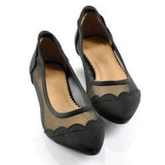$19.56 British Style Casual Women's Spring Flat Shoes With Splicing Solid Color and Openwork Design