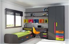 Colors themes and ideas. Bedroom Furniture, Furniture Design, Bedroom Decor, Modular Furniture, Kids Room Design, Bed Design, House Rooms, Boy Room, Girls Bedroom