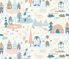 North Pole fabric by demigoutte on Spoonflower - custom fabric