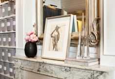 The vintage decorative elements inside Club Monaco's 5th Avenue shop add to the illusion of being in someone's home. See the full tour on our blog: https://www.onekingslane.com/live-love-home/club-monaco-decorating-ideas/