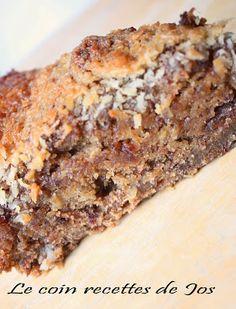 Gâteau du bucheron, noix de coco, dattes et pommes......