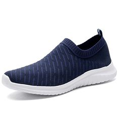 22147e5ebad3 TIOSEBON Women s Walking Shoes Lightweight Mesh Slip-on- Breathable Running  Sneakers 9.5 US Navy