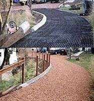 How to build a driveway with sand, grass or gravel using prefabricated polyethylene forms