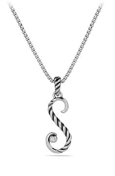 David Yurman 'Cable Collectibles' Initial Charm with Diamond available at #Nordstrom
