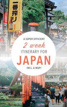 Japón consejos de viaje para su viaje de dos semanas! Estos destinos de Japón son realmente sorprendentes. Incluye un mapa