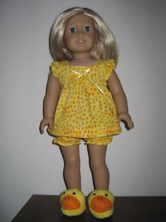 Baby Doll Pajamas for the American Girl and Similar by MarieGeorj, $20.00