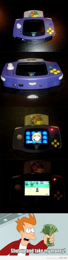 HANDHELD Nintendo 64!! Is this real? If it is, I'm so getting one.