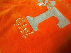 Excited to share the latest addition to my #etsy shop: Unique baby gift Tennessee Girl terry cloth bib orange white embroidery VFL Vols New Baby Shower Gift Power T http://etsy.me/2DsY9Al #children #baby #diapercover #babyclothes #bibs #giftsforbaby #babygirl