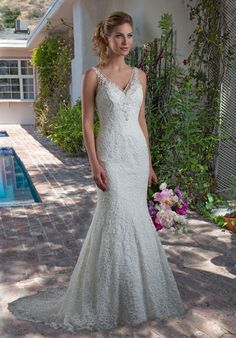 Wedding by Mary's Bridal 6566 Mermaid Wedding Dress