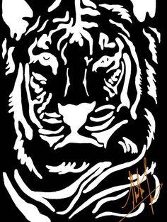 Tiger Digital Art by Abubakar3110