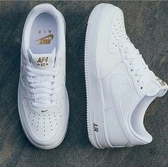 Nike Air Force 1 - listed at Best of - arzu - Schuhe Damen Nike Air Shoes, Sneakers Nike, White Nike Shoes, Souliers Nike, Sneakers Fashion, Fashion Shoes, Nike Fashion, Fashion Trainers, Fashion Women