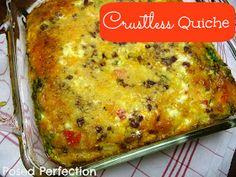 Posed Perfection: Simple Crustless Quiche