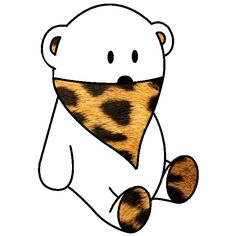 white bear & leopard bandana