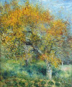 """laclefdescoeurs: """"Le Poirier, 1880s, Pierre-Auguste Renoir """""""