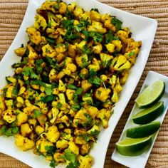 Recipe for Curried Sauteed Cauliflower [from Kalyn's Kitchen] #GlutenFree  #SouthBeachDiet  #LowCarb