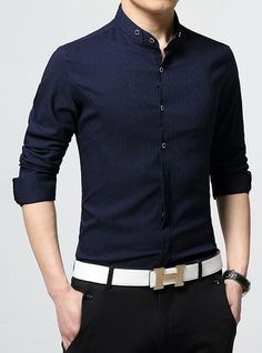Men Mandarin Collar Style Shirt on Sale. Check out our Men's Clothing with daily deal price. $10 off instantly. No Code Require Fabric: Linen / Polyester Fit: Slim Fit Color Available: White, Red, Nav
